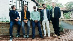 Greyboy Allstars band members from left to right: keyboardist Robert Walter, guitarist Elgin Park, saxophonist Karl Denson,  drummer Aaron Redfield and bassist Chris Stillwell in an undated photo.
