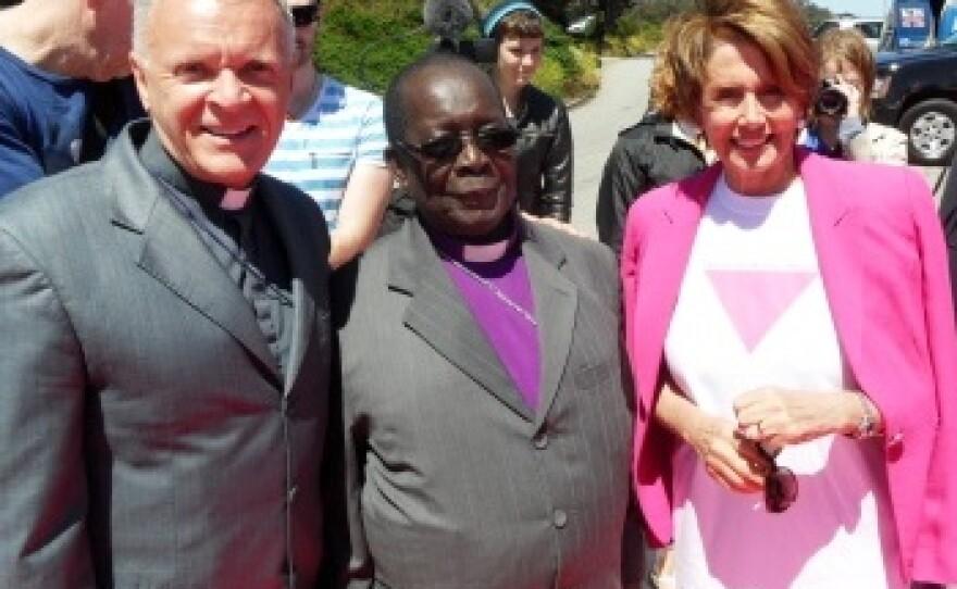 Ogle with Bishop Chrisopher Senyonjo and Speaker of the United States House of Representatives, Nancy Pelosi.