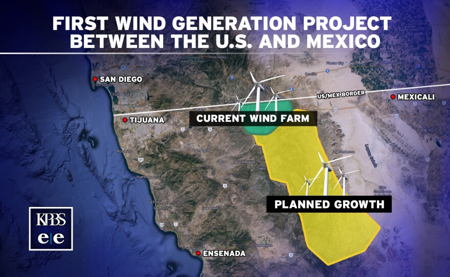This map is based on information from Sempra Energy documents and environmental impact assessment reports for Energía Sierra Juárez, the first U.S.-Mexico wind energy project.