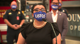 National City Mayor Alejandra Sotelo-Solis speaks on Listos California, the new plan to keep at-risk communities up-to-date with critical emergency information, Sept. 8, 2020.