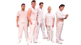 "The cast of Coronado Playhouse's ""Altar Boyz,"" in this 2017 photo."