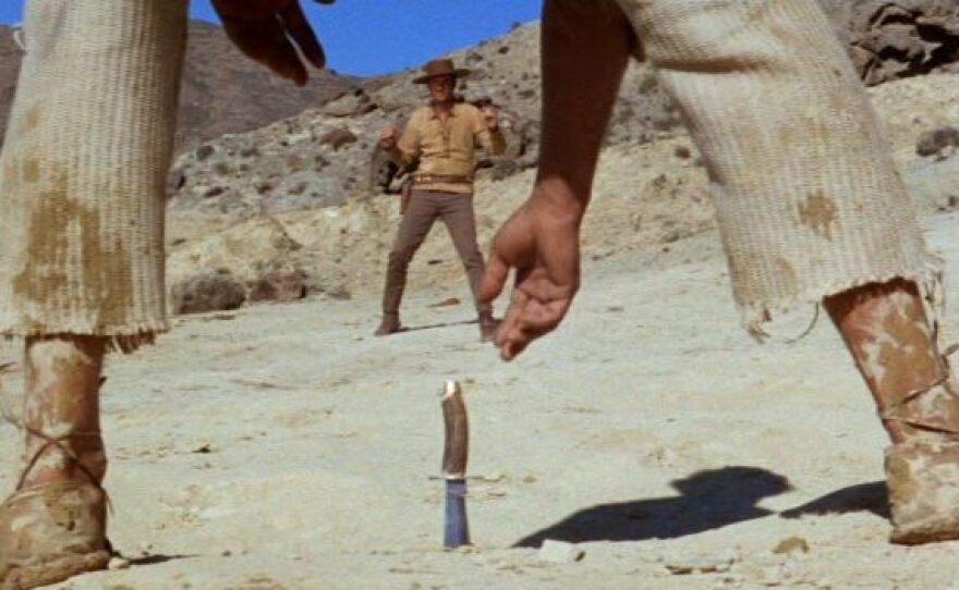 "One of the brilliant visual moments in Sergio Sollima's western ""The Big Gundown."""
