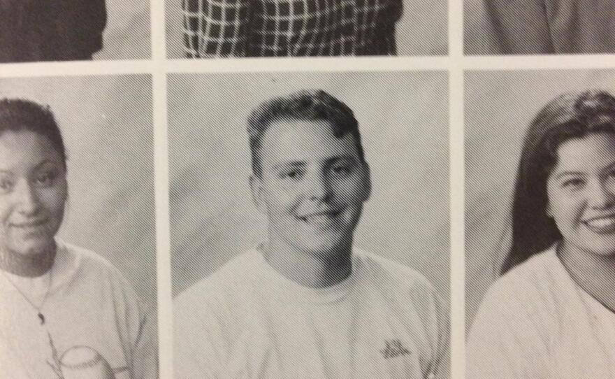 Nathan Fletcher in his college yearbook