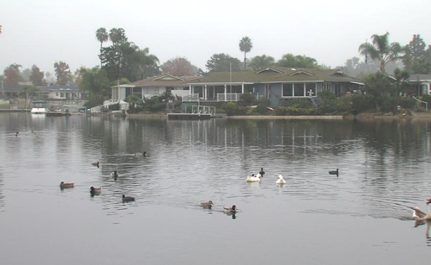 Houses on Lake San Marcos, Dec. 4, 2014.