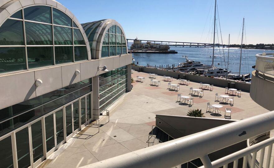 San Diego Convention Center looking toward the Coronado Bridge on Jan. 24, 2020.