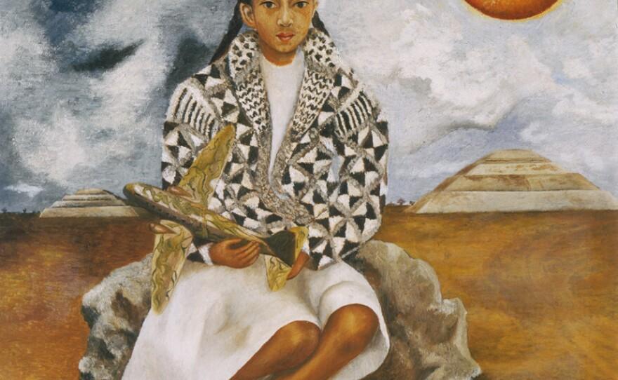 "Frida Kahlo's ""Niña tehuacana, Lucha María o Sol y luna,"" on display through March at the San Diego Museum of Art."