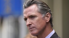 California Gov. Gavin Newsom listens to questions during a news conference in San Francisco, June 3, 2021.