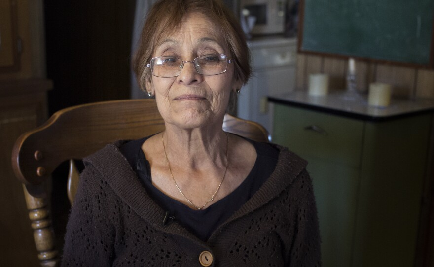 Ana Hayes is shown inside her El Cajon mobile home on Feb. 20, 2018.