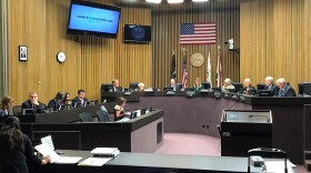 The County Board of Supervisors hold a meeting, April 17, 2018.
