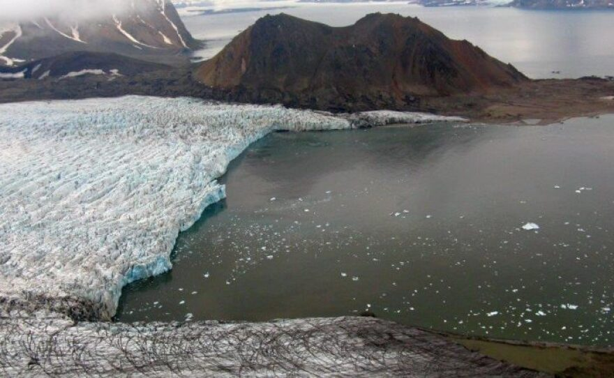The Hansbreen glacier in Svalbard, Norway in an undated photo.