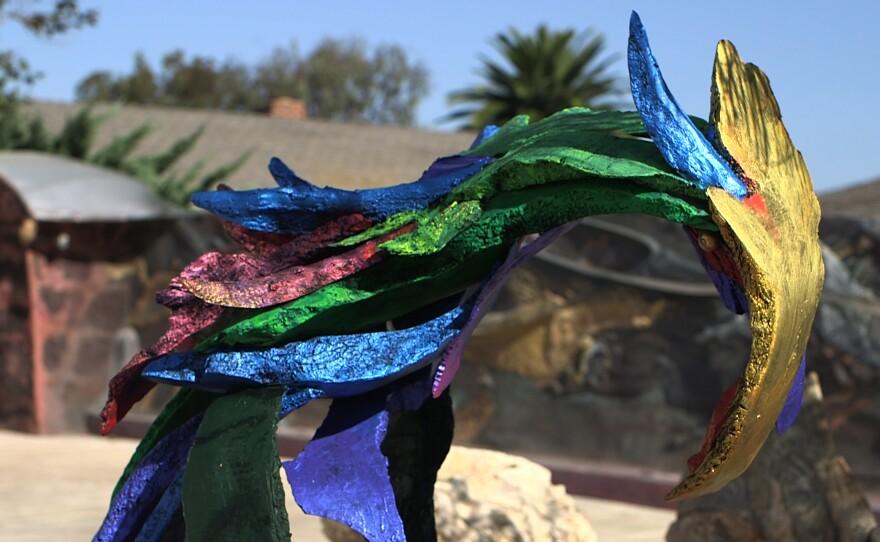 "Nassar Pirasteh's sculpture named ""Phoenix."""