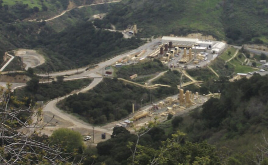 A partial view of the Aliso Canyon natural gas storage facility in Los Angeles County.