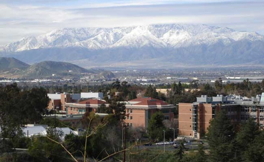Mountains are shown near UC Riverside in this undated photo.
