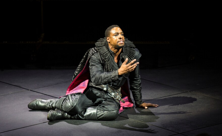 """Grantham Coleman is no melancholy, indecisive Dane in Barry Edelstein's production of """"Hamlet"""" now onstage at the Old Globe Theatre."""