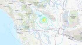 A magnitude 5.3 earthquake in Calipatria in Imperial County near El Centro, June 5, 2021.