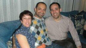Director, Erin Palmquist, Ghazwan Alsharif and Ghazwan's Army friend Tom Stewart pictured in 2008.