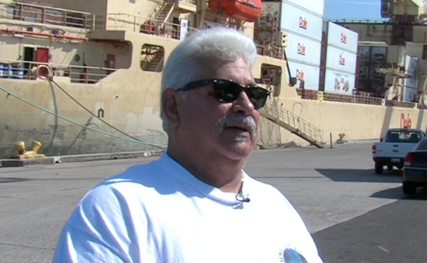 Longshoreman Jerry Shipman at the Tenth Avenue Marine Terminal.
