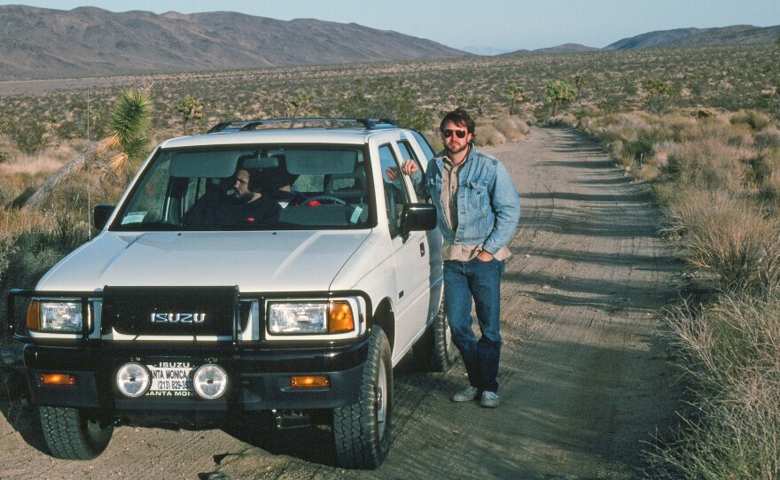 """Author Walter Meyer, seen here on the road in Baja in 1990, just published a book collecting anecdotes from his life called """"If You Weren't Here, This Wouldn't Be Happening: plogs from my life."""""""