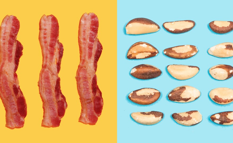 Eating too much bacon, or too few whole grains, nuts and seeds, can influence your risk of death from heart disease. Nearly half of all deaths from heart disease and Type 2 diabetes are linked to diet.