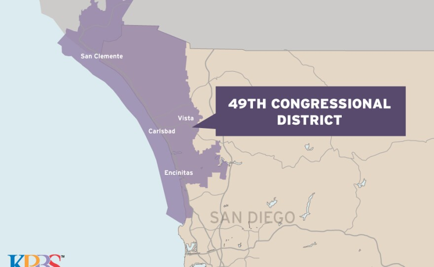 A map of the 49th Congressional District is shown in this graphic.