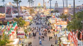 Aerial view of the San Diego County Fair at the Del Mar Fairgrounds.