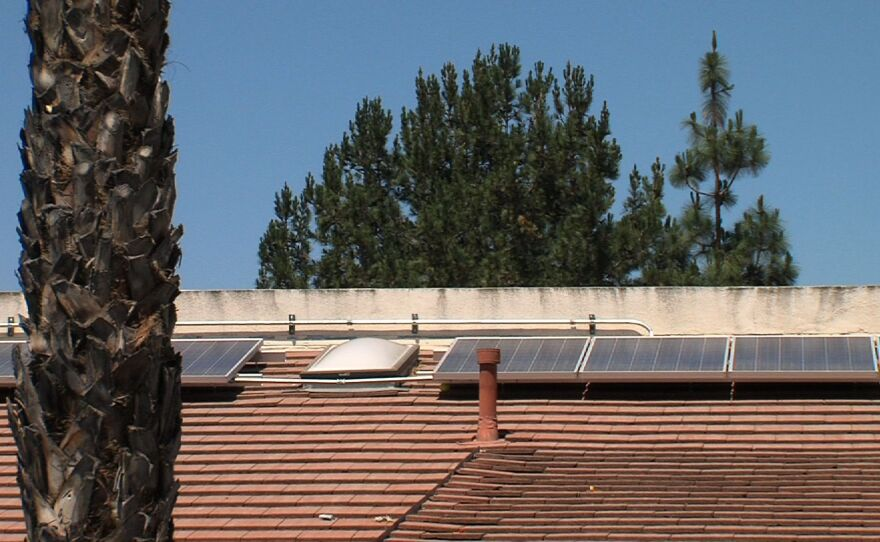 Solar panels on roof of Poway affordable housing project