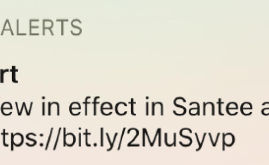 A mobile emergency alert is shown, June 5, 2020.