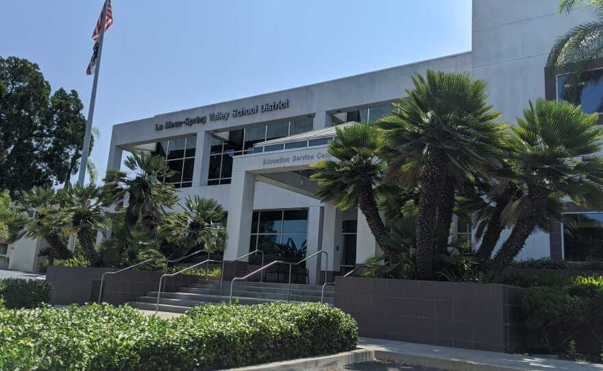 The La Mesa-Spring Valley School District main office. Aug. 27, 2020