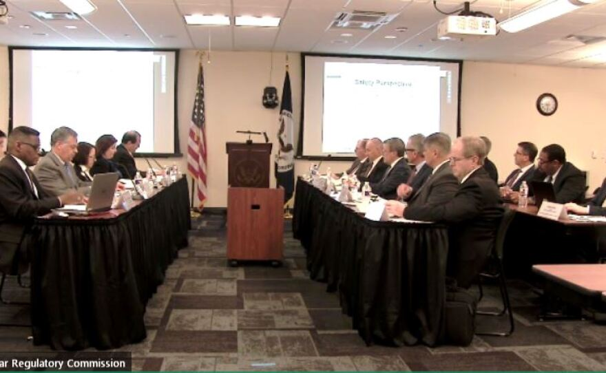 Nuclear Regulatory Commission officials meet with officials from Southern California Edison to review  corrective actions Southern California Edison has taken since a near-miss accident at San Onofre last year. Jan. 25, 2019.
