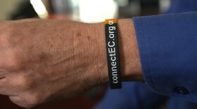 The wristbands made by the East County Chamber of Commerce were created to help connect homeless people to services they need, Feb. 19, 2018.