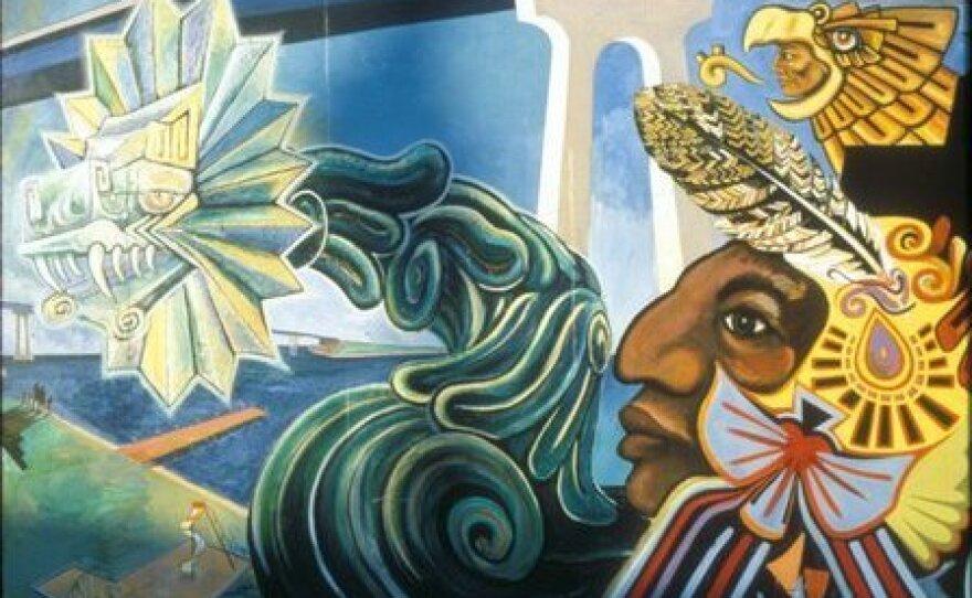 Image of a Chicano Park mural in San Diego's Barrio Logan neighborhood.