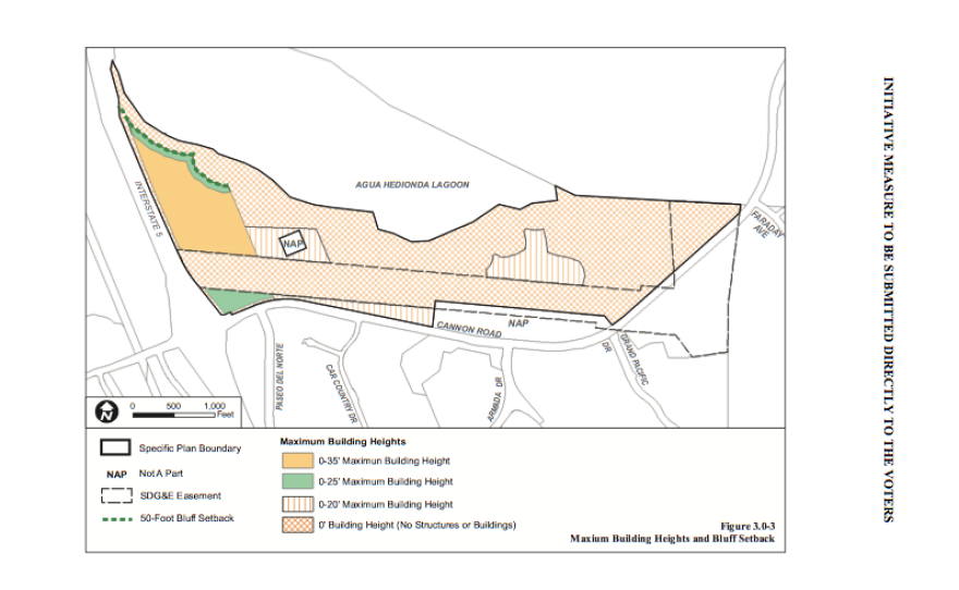 Pictured is a graphic of the 85/15 plan for 203 acres on the southern border of the Agua Hedionda Lagoon in Carlsbad, July 9 2015.