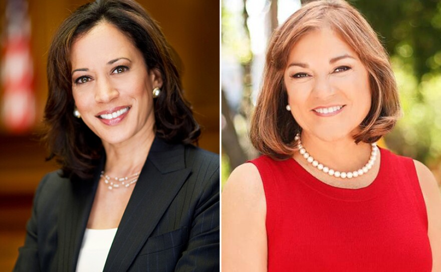 Kamala Harris, left, and Loretta Sanchez, right, are pictured in these undated photos.