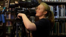 """Filmmaker Morgan Dameron on the set of """"Different Flowers,"""" which screens this weekend at the Women's Film Festival in Liberty Station."""