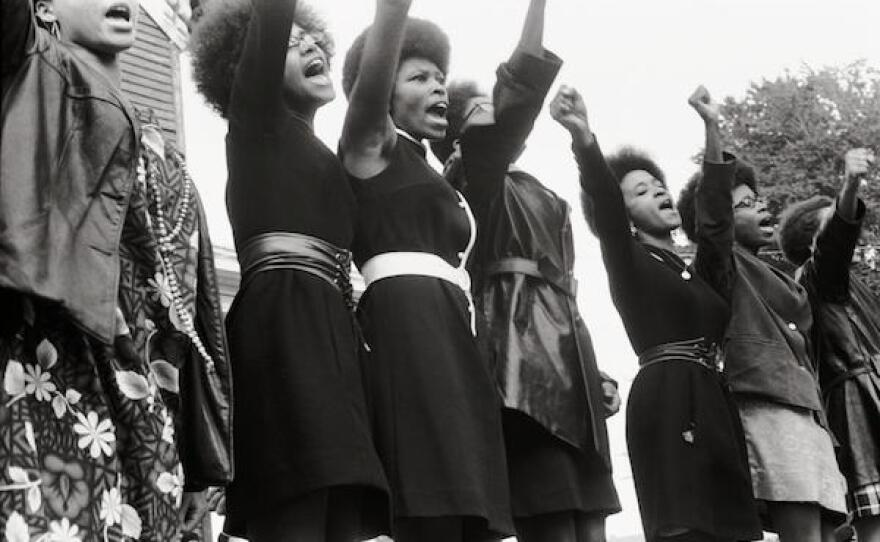 """A still from the documentary """"The Black Panthers: Vanguard of the Revolution."""""""