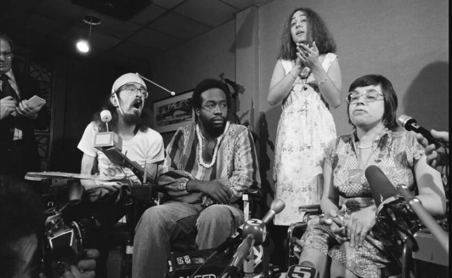 Disability rights activists in the Bay Area in the 1970s, lobbying for federal protections in this undated photo.