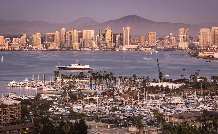 San Diego's skyline is shown in this undated photo.