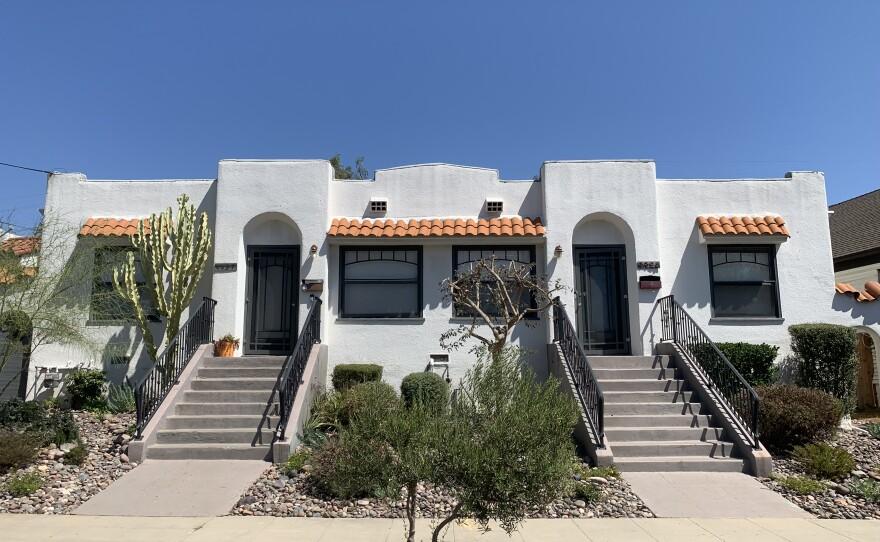 A duplex in San Diego's University Heights neighborhood is seen here, Sept. 17, 2021.