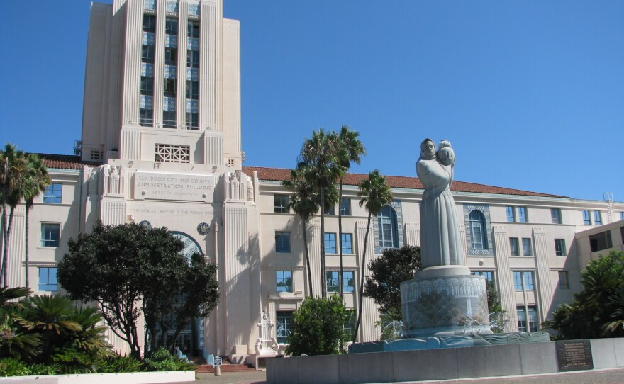 The San Diego County Administration Building downtown is shown in this undated photo.