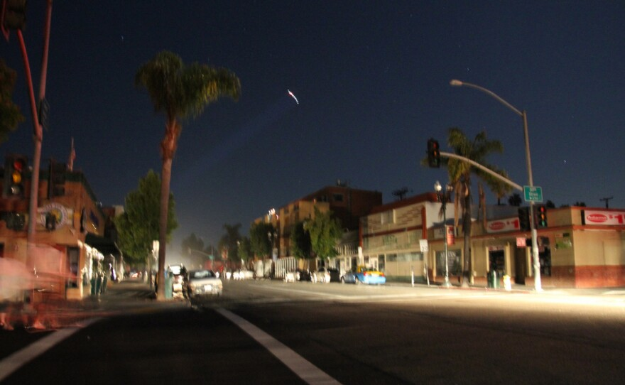Normal Heights during the San Diego blackout on Sept. 8, 2011.