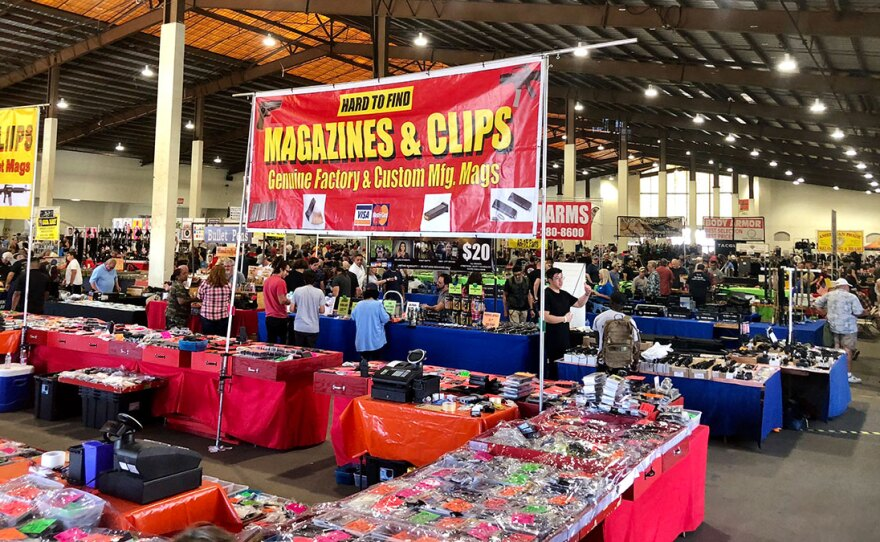 Inside the Crossroads of the West Gun Show at the Del Mar Fairgrounds, Sept. 29. 2018.