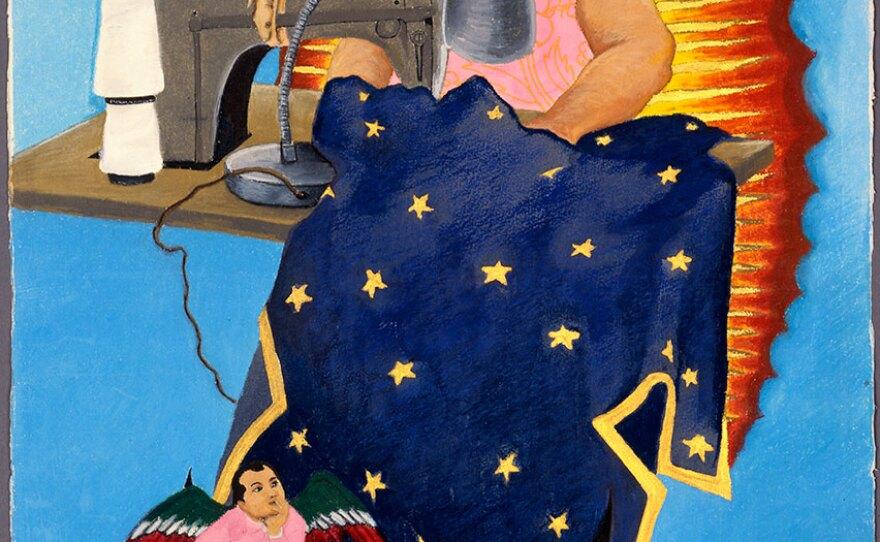 "Yolanda López's ""Margaret F. Stewart: Our Lady of Guadalupe,"" (1978)."