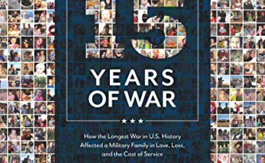 """The book cover for """"15 Years of War"""" by Kristine Schellhaas."""