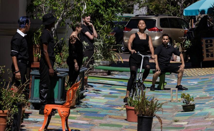 "Dancers perform ""Back to Front"" by Mark Haim, Sept. 26, 2015."