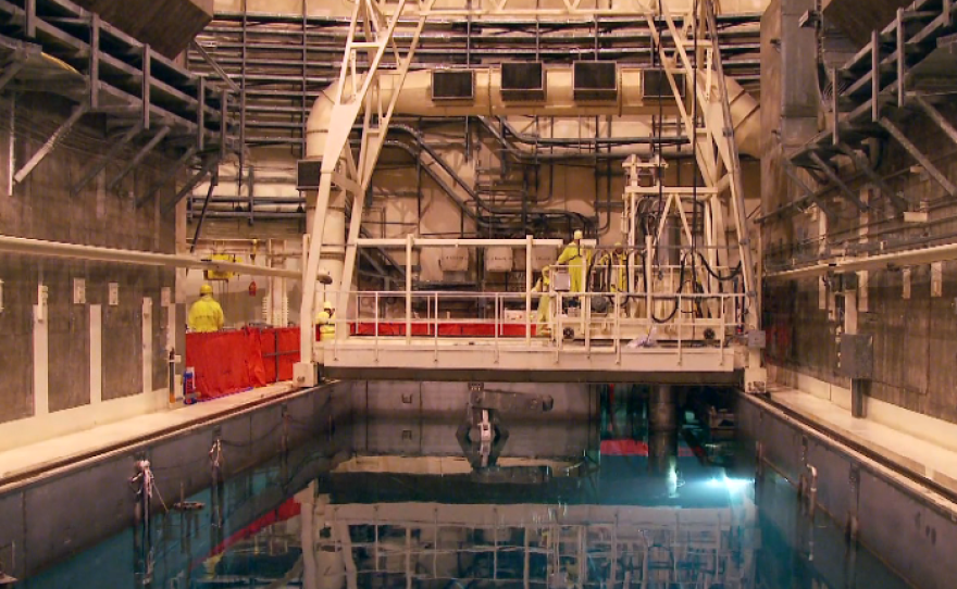 San Onofre's cooling pools currently hold thousands of spent fuel assemblies.