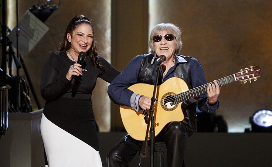 """Gloria Estefan performs with José Feliciano at """"Emilio & Gloria Estefan: The Library of Congress Gershwin Prize for Popular Song,"""" March 13, 2019, DAR Constitution Hall in Washington, D.C. The program premieres May 3, 2019 on PBS."""