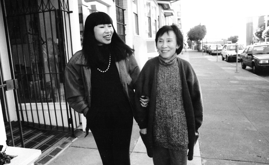 Amy Tan and her mother (undated photo)