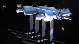 Orbital Reef is a new commercial space station that Blue Origin says will be operational by the end of the decade. It's seen here in a promotional photo released by the company.