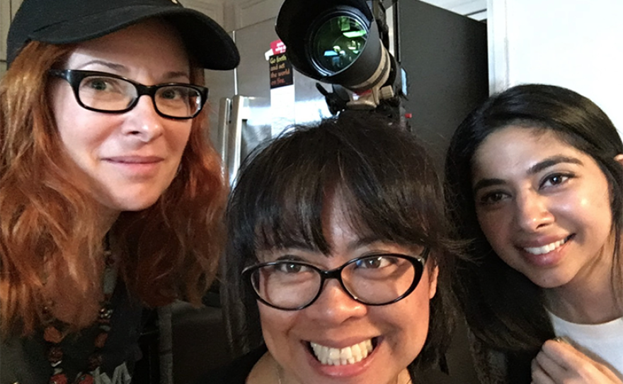 """Cady McClain, DP Leah Anova and Reema Dutt. """"Seeing Is Believing: Women Direct"""" shares the experience of four diverse female directors, including the obstacles they overcame, what motivates them, and what their idea of the optimal working environment is."""