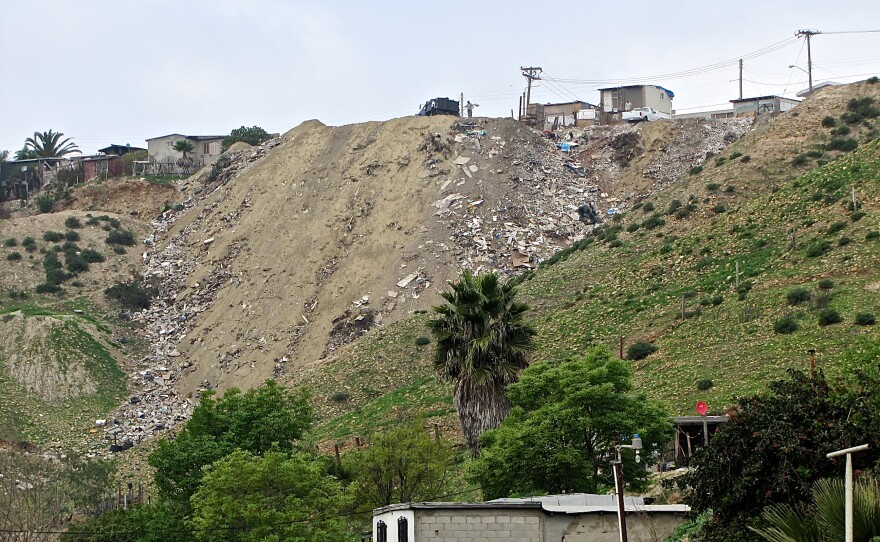 Illegal dump sites proliferate in some of the Tijuana canyons that make up the Tijuana River watershed in Mexico. They send trash and sediment downstream, clogging the estuary and threatening birds and other wildlife.